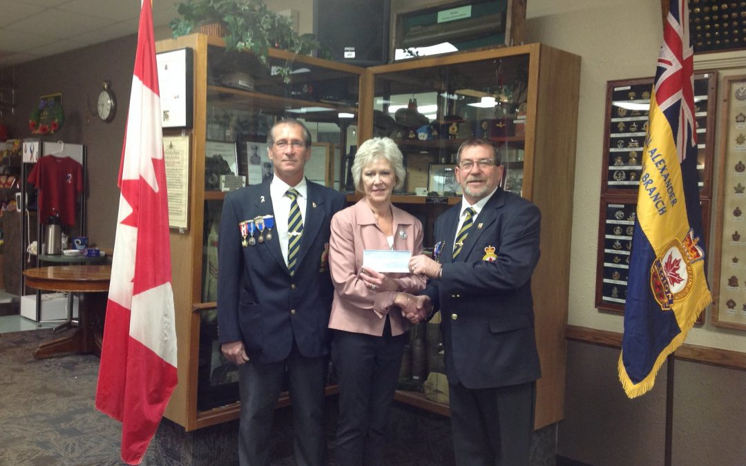 THANK YOU TO THE FIELD MARSHALL ALEXANDER BRANCH NO. 11 ROYAL CANADIAN LEGION