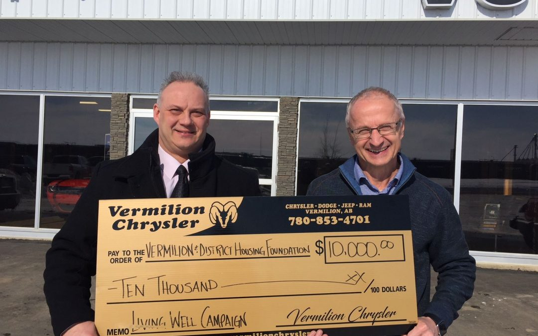THANK YOU TO VERMILION CHRYSLER